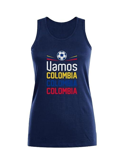 Green Turtle T-Shirts Camiseta sin Mangas para Mujer - Apoyemos a la Selección Colombia en el Mundial!: Amazon.es: Ropa y accesorios