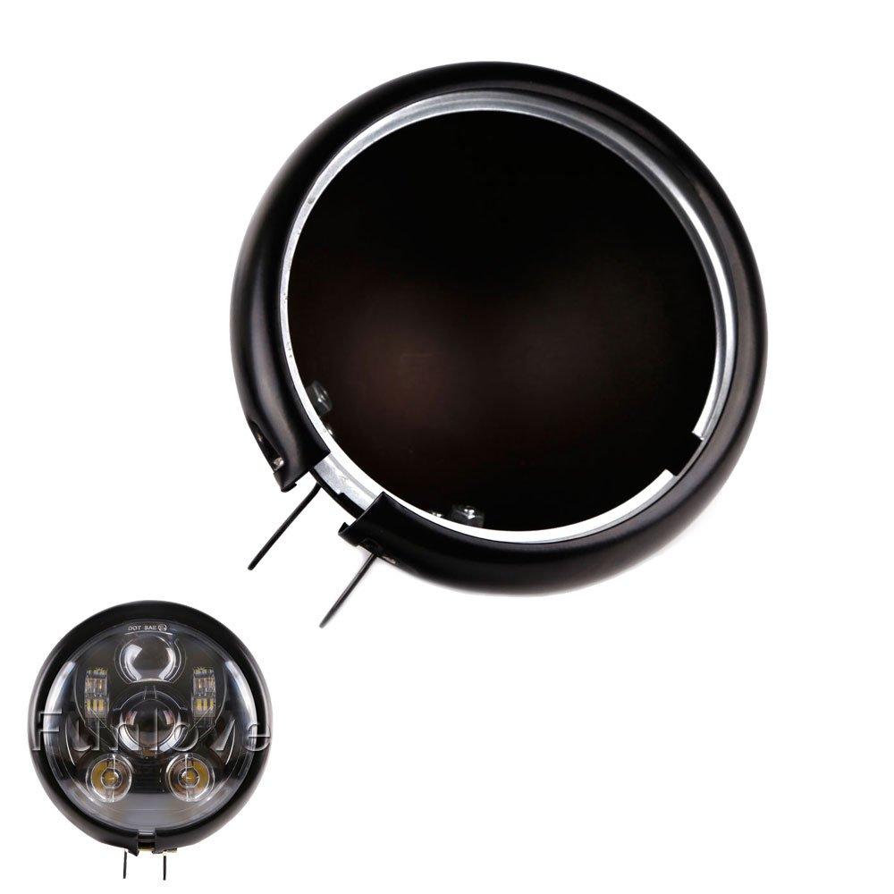 "Funlove 5 3/4"" 5.75 Inch Led Headlight Housing for Harley Da-vidson FXWG Chopper"