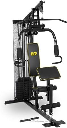 Gymrex Estación Multi Gym para Fitness GR-HG10 (Peso Máx. Usuario 120 kg, Incluye 10 Discos De 4,5 kg, Construcción Robusta En Acero)