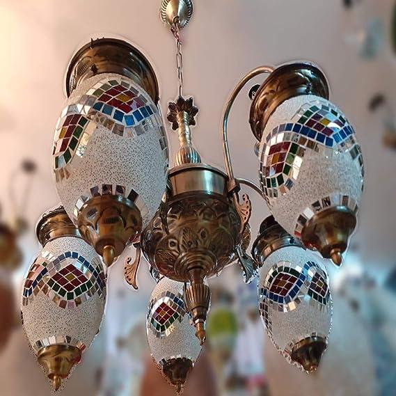 Sanleen Enterprises Antique Design Brass Chandelier 5 Lamps  38X38X25cm  Chandeliers