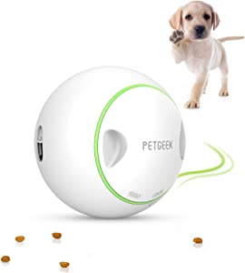 PETGEEK Interactive Dog Treat Ball, Treat Dispensing Dog Toys, Pet IQ Treat Ball Adjustable Treat Ball for Dogs, Automatic Dog Food Toy