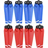 HeiyRC 8PCS Propellers for DJI Spark Drone,4730F Quick-Release Folding Blade Props for Spark,Blue and Red