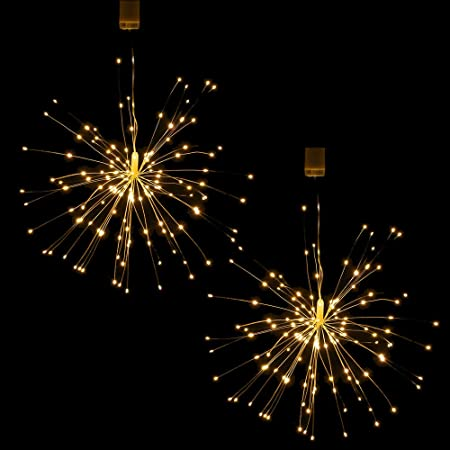 Lixada Firework Light String Outdoor Waterproof 150 Leds Christmas String Lights With Remote Control Decorative Hanging Starburst Lamp For Indoor Outdoor Home Parties Wedding Yard Garden Amazon Co Uk Sports Outdoors