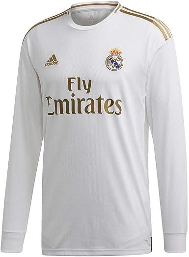adidas Real Madrid Home 2019-20 - Camiseta de manga larga para hombre, color blanco y dorado - Multi - 3X-Large: Amazon.es: Ropa y accesorios