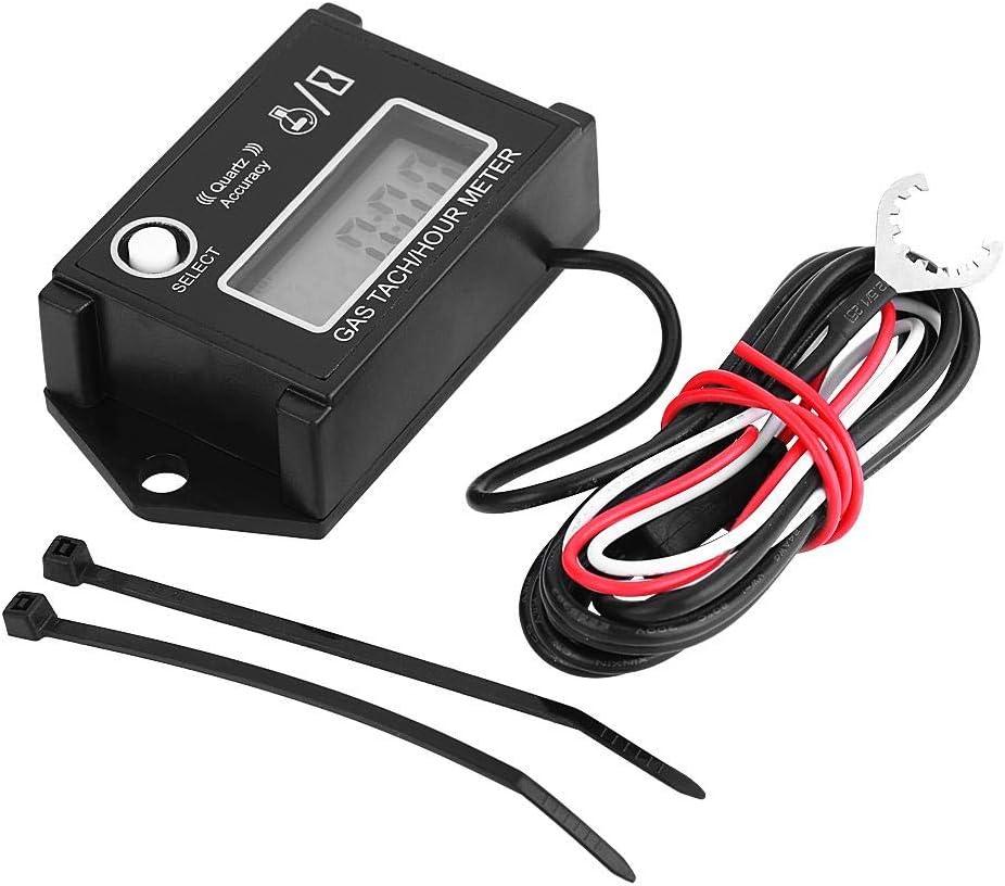 LCD-Tachometer Tachometer Traktor Drehzahlmesser Motorrad Marine Rasenm/äher Motor MTB digital