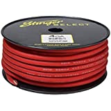 Stinger SSVLP4R 4Ga Matte Red Power Wire 100'