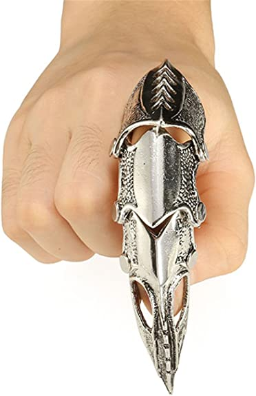 Details about  /Metal Steel Men Jewelry Gothic Punk Large Goddess Venus Heavy Cool Finger Ring v