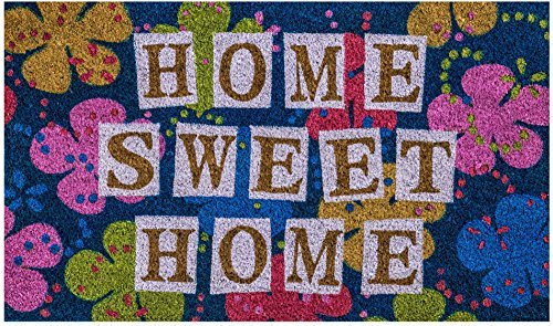 Home Sweet Home Coir Doormat by Castle Mats, Size 18 x 30...