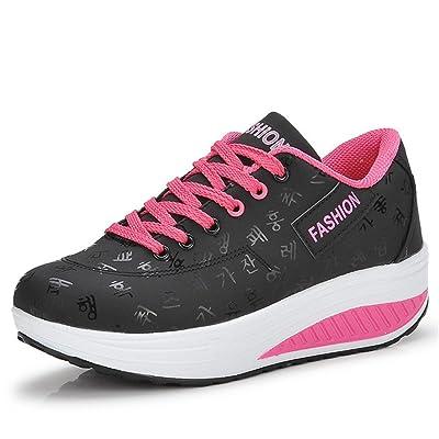Gaatpot Baskets Compens/ées Plateformes Fitness Chaussures Sneaker de Marche Chaussures D/écontract/ée pour Femmes