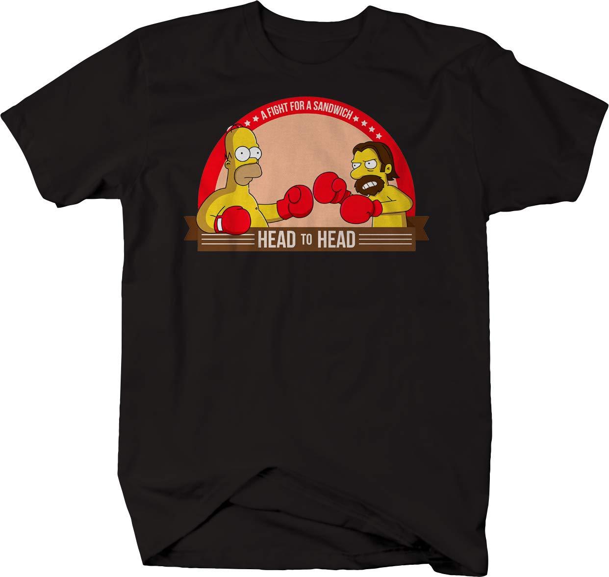 Comic Boxing Boxcar Bob Head To Head Fight For Sandwich Tshirt