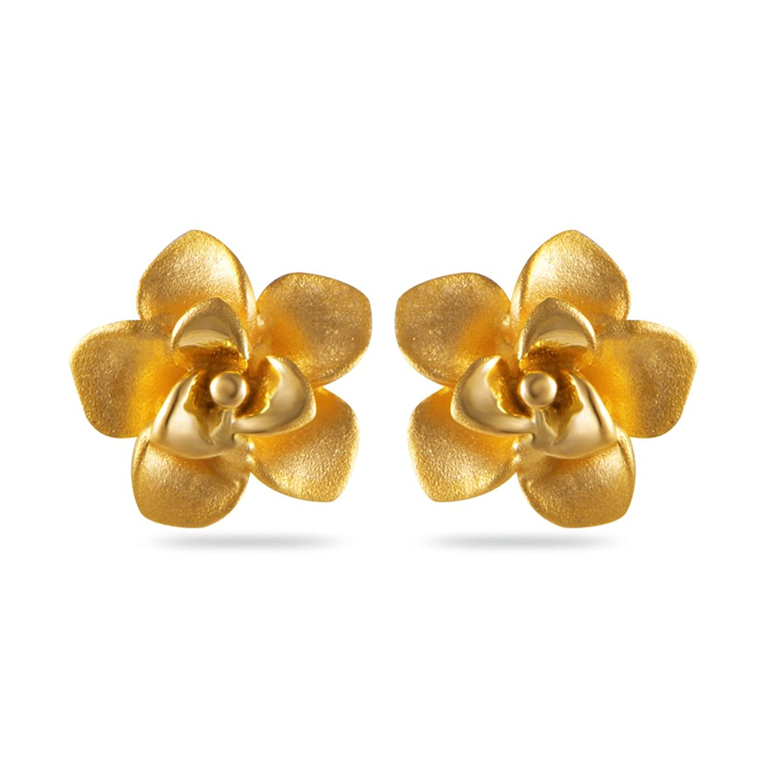 Buy Joyalukkas Impress Collection 22k Yellow Gold Stud Earrings ...