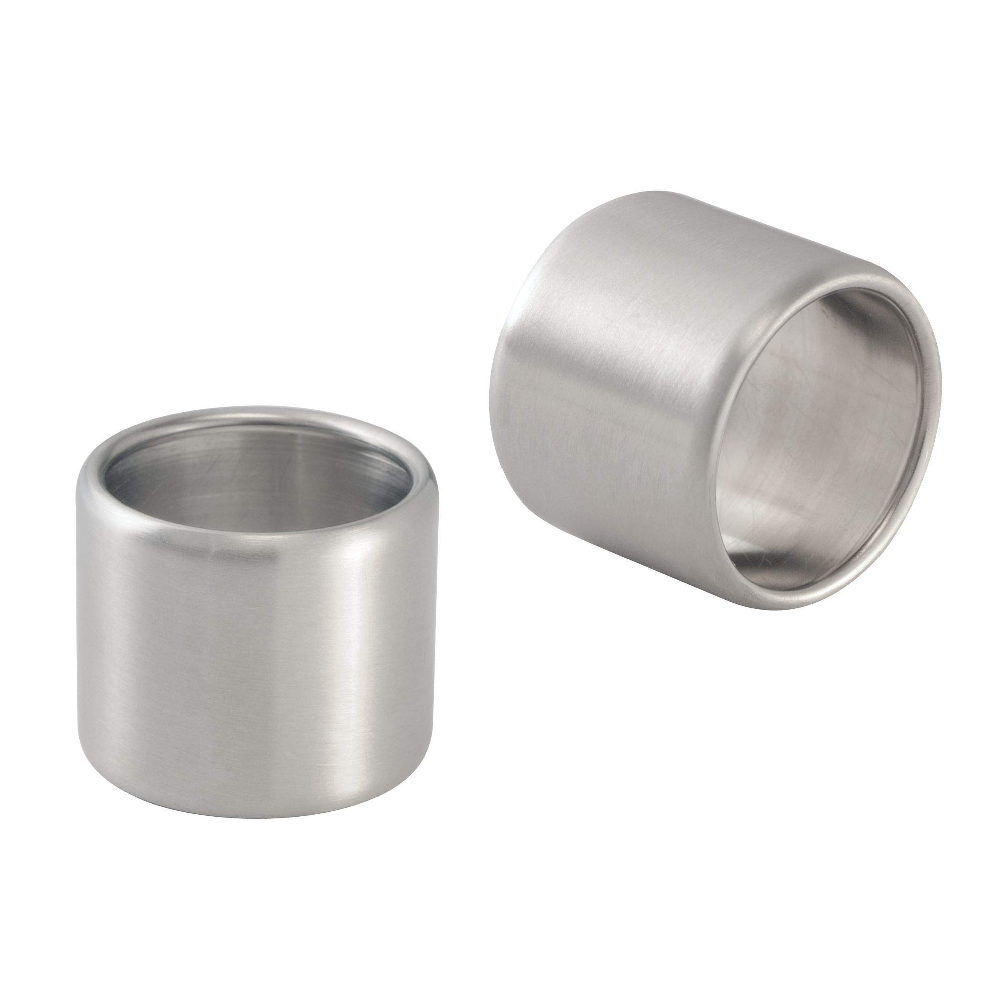 mDesign Napkin Rings for Home, Kitchen, Dining Room - Pack of 8, Brushed Stainless Steel by mDesign (Image #5)