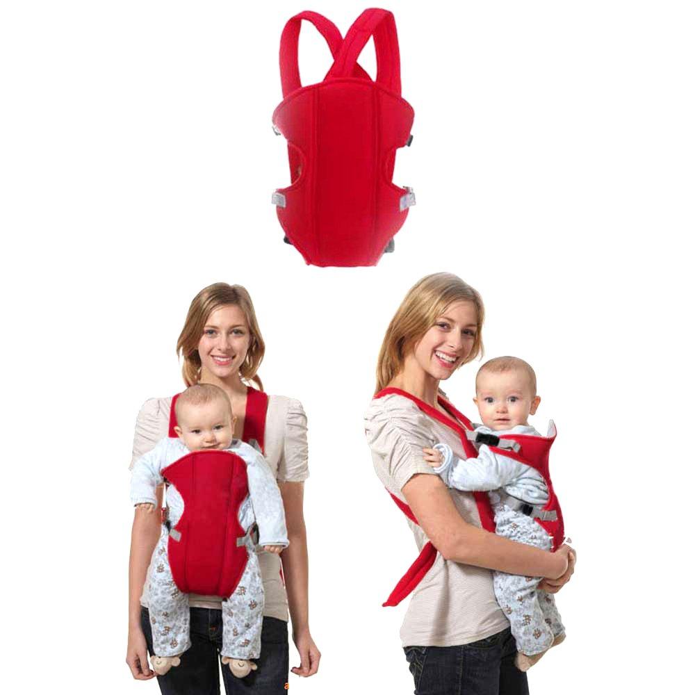 Sealive Infant Baby Carrier Sling Wrap Rider Infant Comfort Backpack Children Gear, Breathe Soft Carrier Baby Backpack for 3-24 months Baby Boys Girls(Red) sealiveB660010001