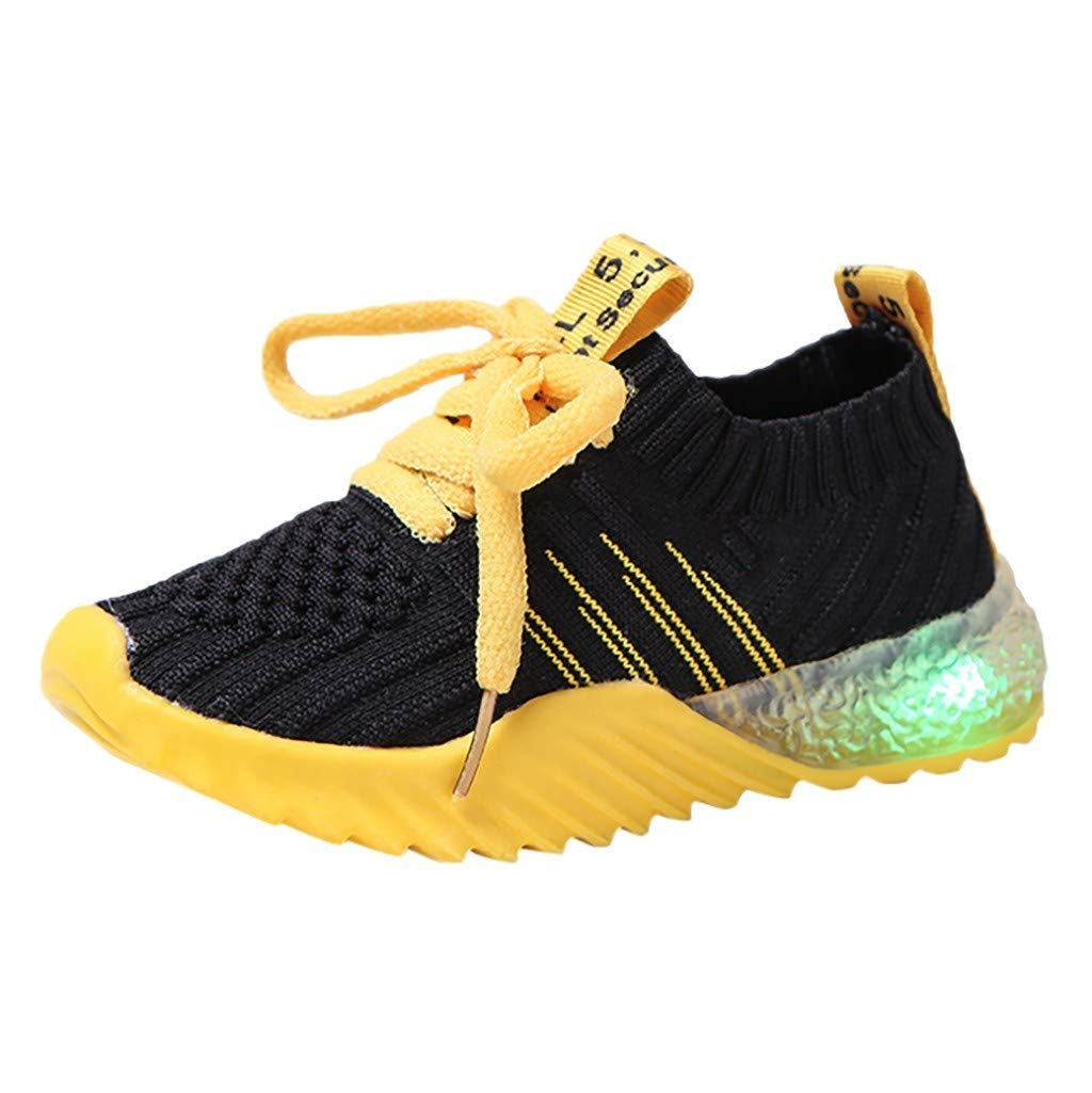 Sameno LED Baby Shoes 1-6 T Light Up Luminous Walking Shoes Bling Soft Sole Booties Gifts for Boys Girls Winter Fall