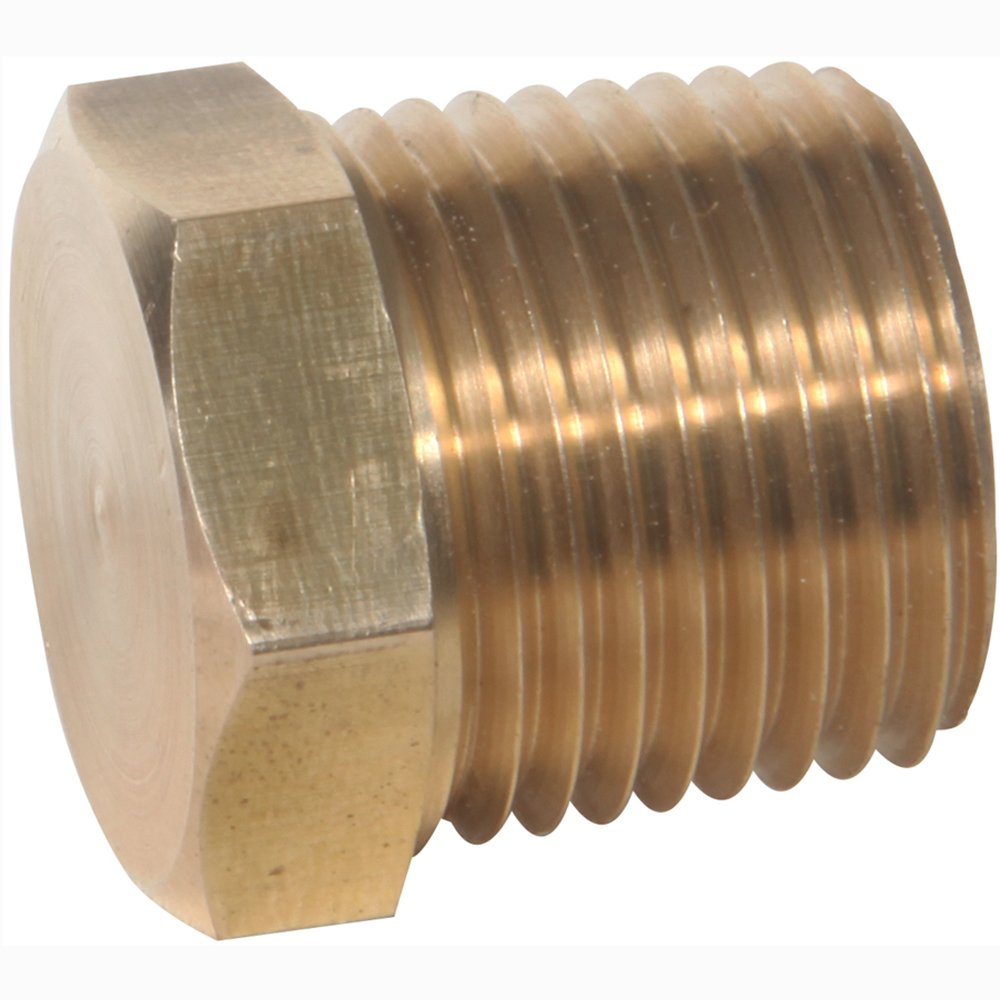 Midwest Control 23152X8-P5 MPT 1//2 Brass Hex Head Plug 5 Pack