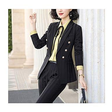 Chaquetas y Pantalones de Traje a Rayas de Moda para Mujer ...