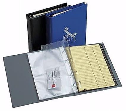 Hetzel Visitenkartenbuch Telefonbuch Ringbuch Ordner A5 Grau