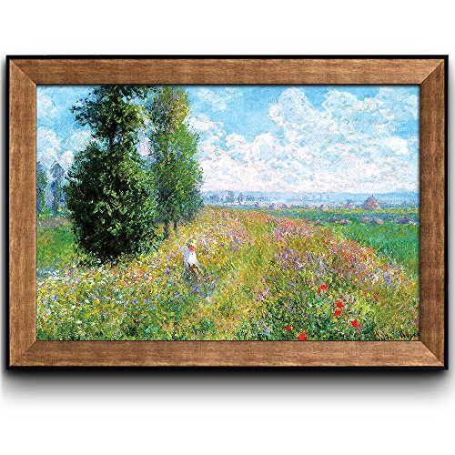 Meadow with Poplars by Claude Monet Framed Art