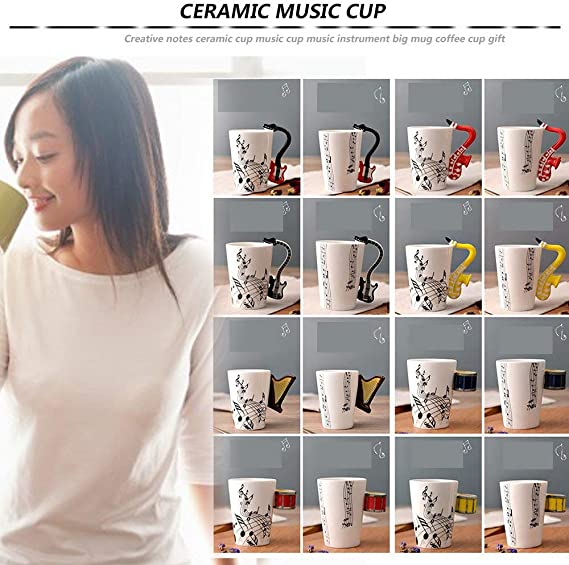DGdolph Hand Painted Ceramic Cups Creative Notes Musical