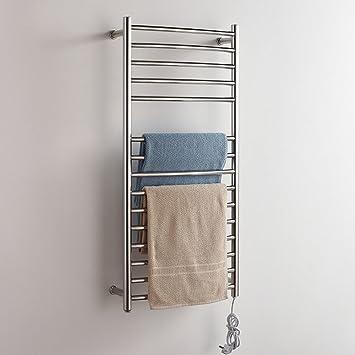 Calentador de ropa de acero inoxidable eléctrico tendedero toallero calentador de toallas: Amazon.es: Hogar