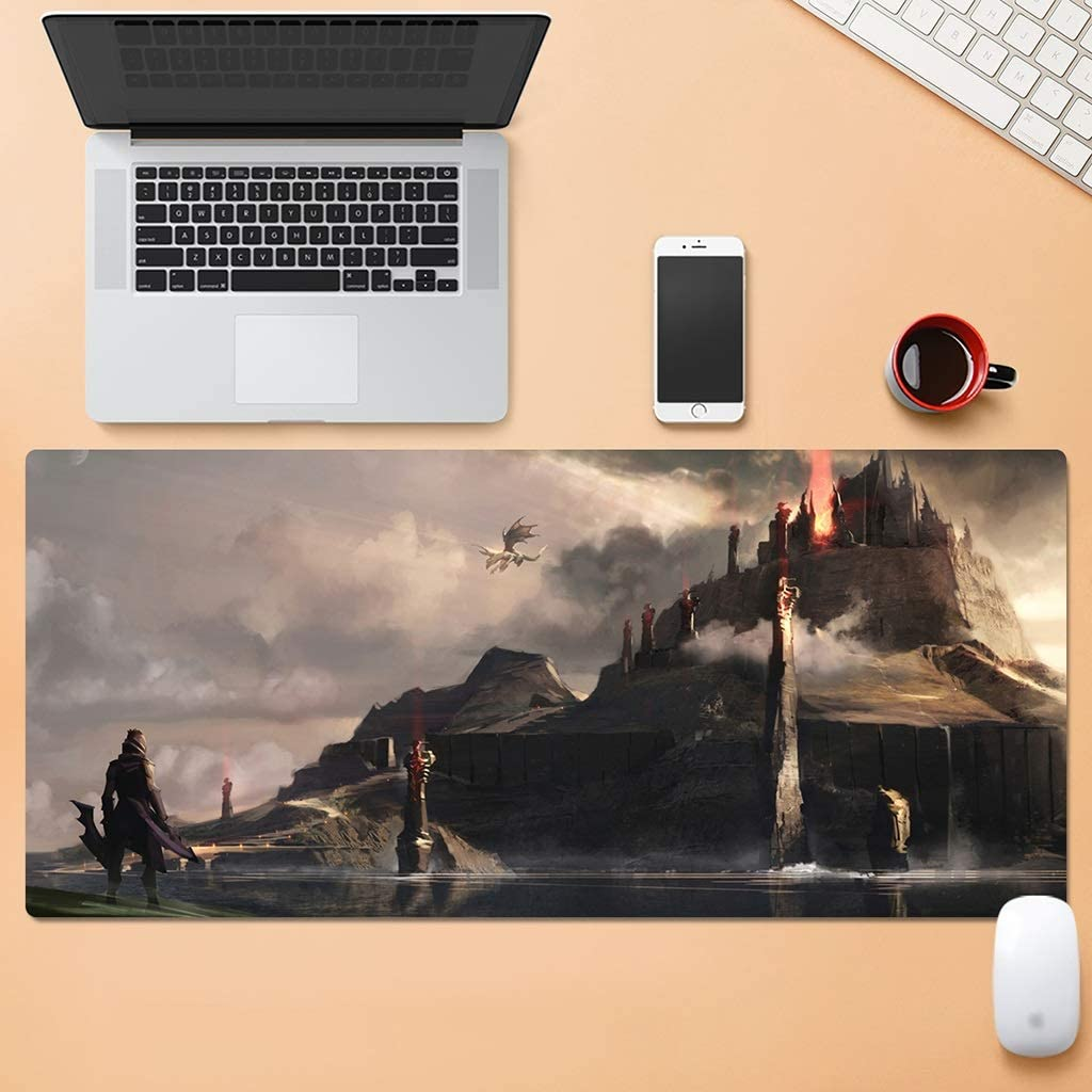 SJJSP Mouse pad Cartoon Mouse Pad Oversized Padded Game Esports Mouse Pad Waterproof Rubber Color : F, Size : 5mm