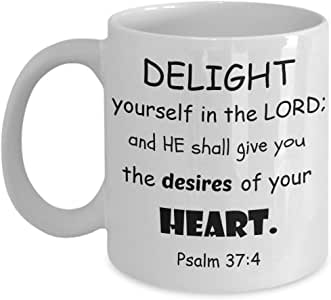 Faith Coffee Cup Delight Yourself In The Lord Coffee Mug