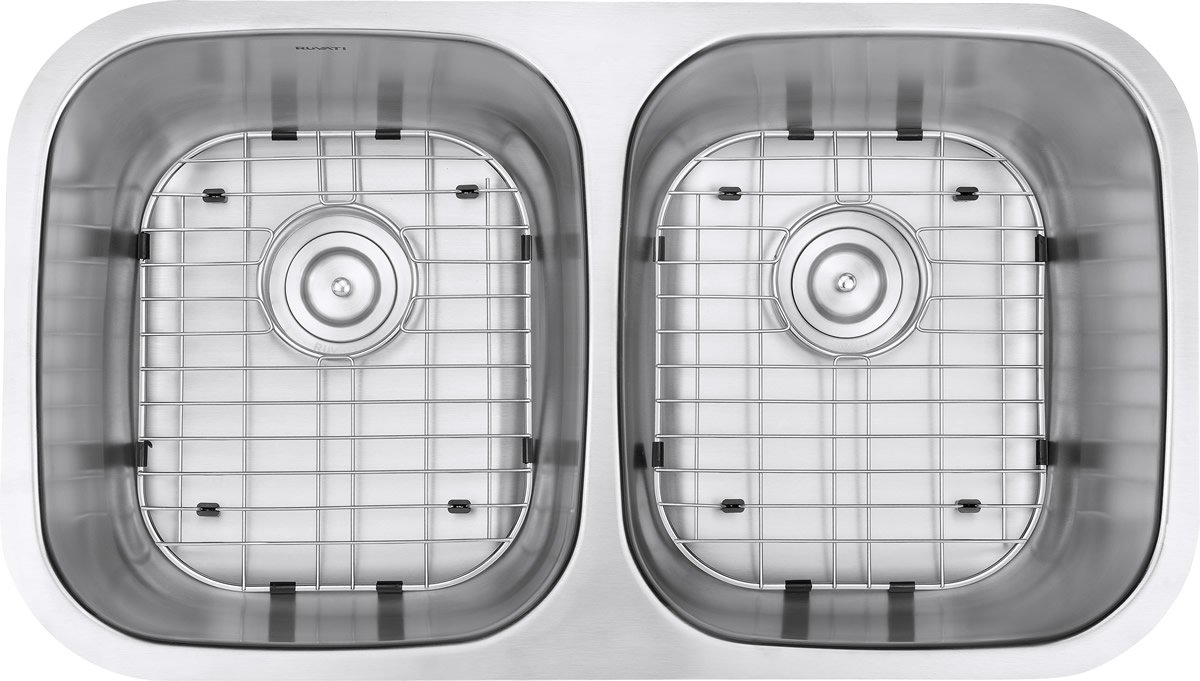 Ruvati 32-inch Undermount 50/50 Double Bowl 16 Gauge Stainless Steel Kitchen Sink - RVM4300 by Ruvati (Image #6)