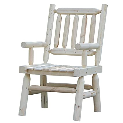 Superbe Wooden Chairs Rustic Style Oversized Patio Furniture With Wide Space