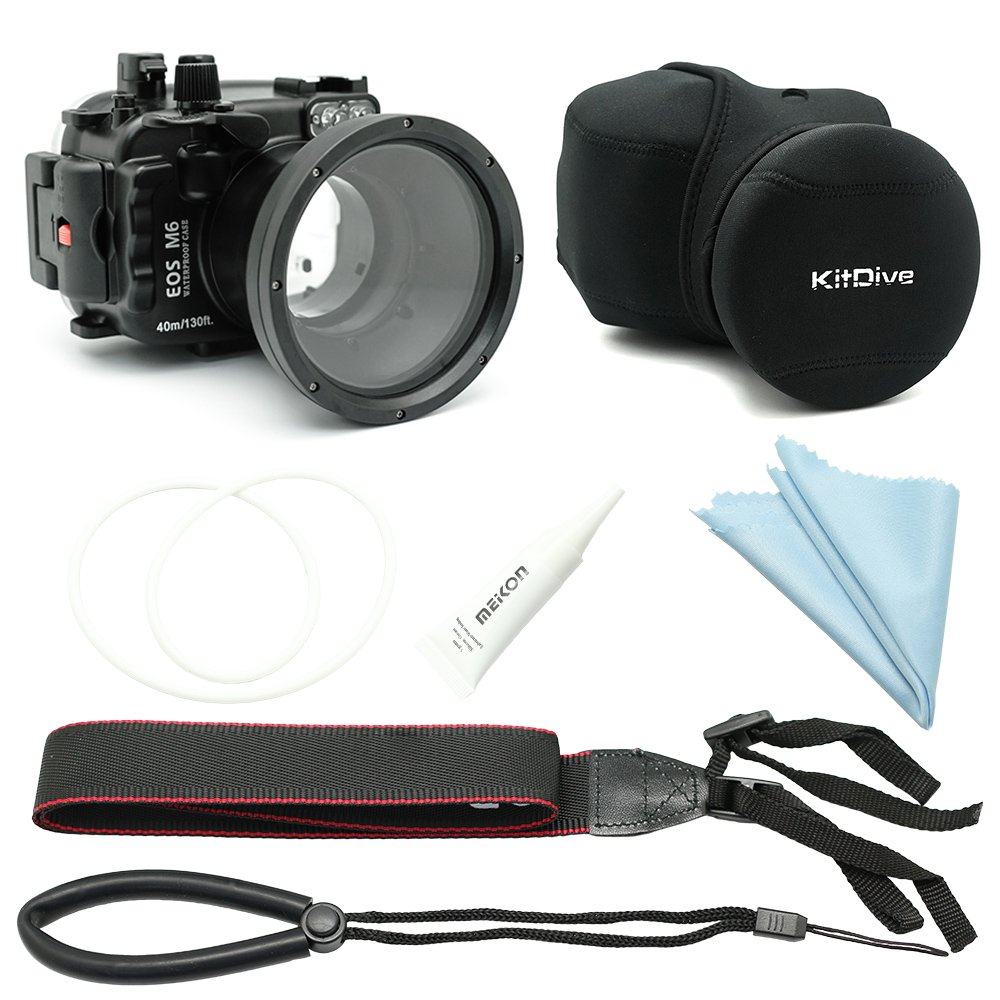 SeaFrogs - Carcasa Impermeable para cámara Canon EOS M6 de ...