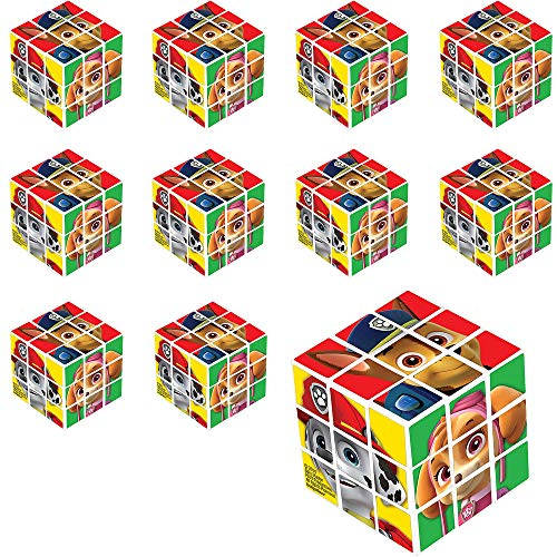 Party City PAW Patrol Puzzle Cubes, 24 Count, Classic Puzzle Party Favors Feature Chase, Rubble, Marshall, and More ()