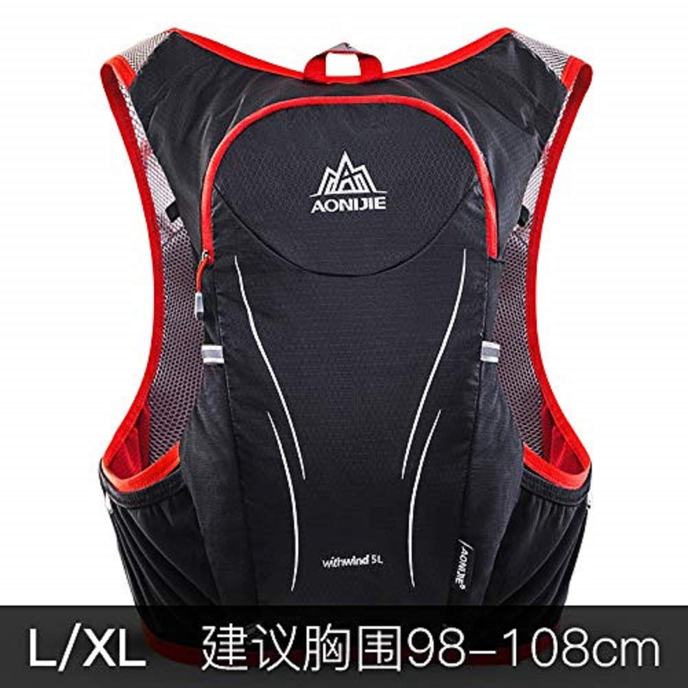 BUST 9108 L XL aonijie AONIJIEE5L Outdoor Running Rucksack Marathon Rucksack can Carry 2L Pedestrianism Water Bag Sports Vest Rucksack