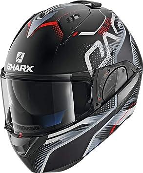 Amazon.es: SHARK NC Casco per Moto, Hombre, Negro/Gris/Rojo, L