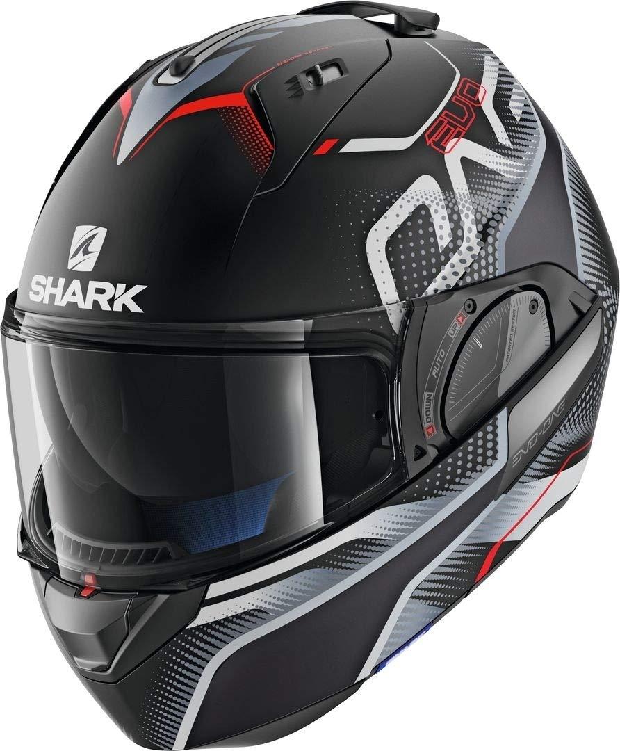Shark Casque moto EVO-ONE 2 KEENSER MAT KSR XL Noir//Gris//Rouge