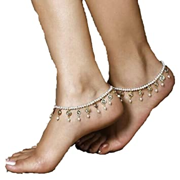 Fulltime(TM) Womens Beach Imitation Pearl Barefoot Sandal Foot Jewelry Anklet Chain nHsDnl