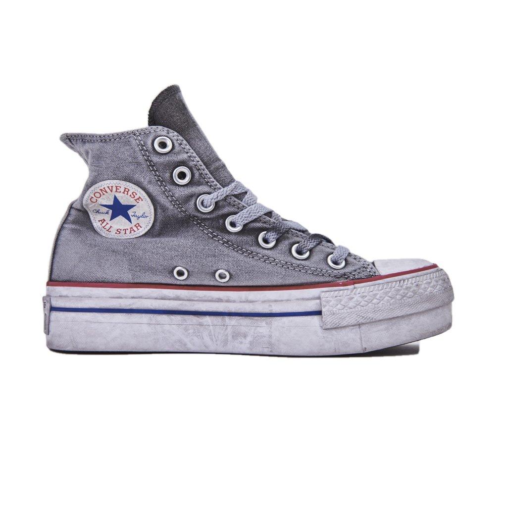 b6c292f030b Converse Limited Edition All Star Platform Smoke Sneakers Donna Chuck  Taylor Ltd 558453C WHITE Smoke