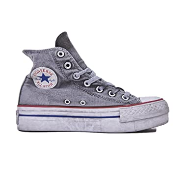 0a44182fe8c4 Converse Limited Edition All Star Platform Smoke Sneakers Donna Chuck  Taylor Ltd 558453C WHITE Smoke