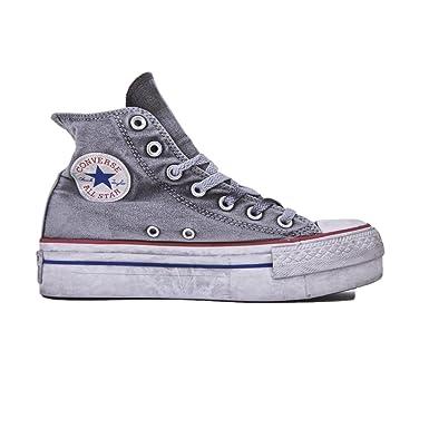 884c6eb01f453 Converse Limited Edition All Star Platform Smoke Sneakers Donna Chuck Taylor  Ltd 558453C WHITE Smoke