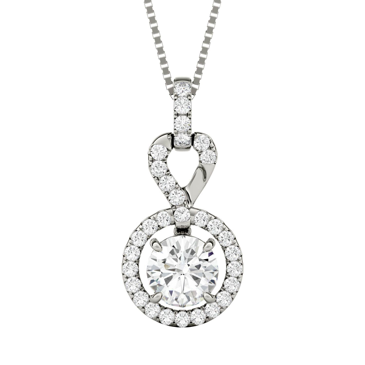 Forever Brilliant Round 6.5mm Moissanite Pendant Necklace, 1.30cttw DEW By Charles & Colvard