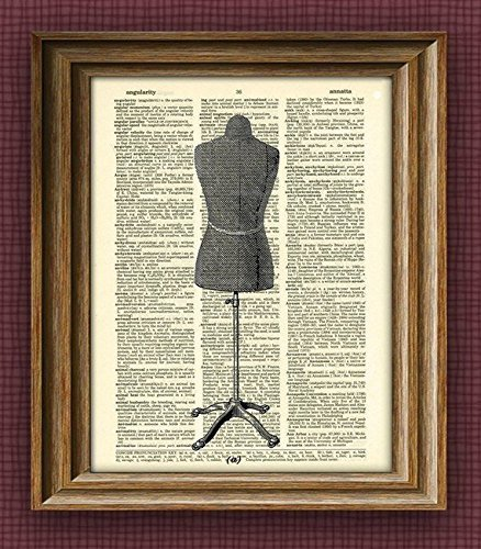 t over an upcycled vintage dictionary page book art ()