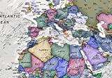 """artgeist Pinboard World Map 47.2"""" x 31.49"""" Cork"""