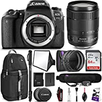 Canon EOS 77D DSLR Camera with 18-135mm USM Lens w/Advanced Photo and Travel Bundle