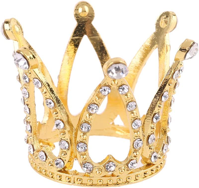 Ncbvixsw New Baby Crown Photo Photography Props Headband Ring Mini Decoration Newborn Girls Princess Gold Silver Luxury Fashion Memorial Birthday Party Tiara Headdress