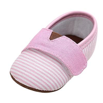 Bébé Mixte Fille / Garcon Premier pas Coton Chaussures Souple de Marche