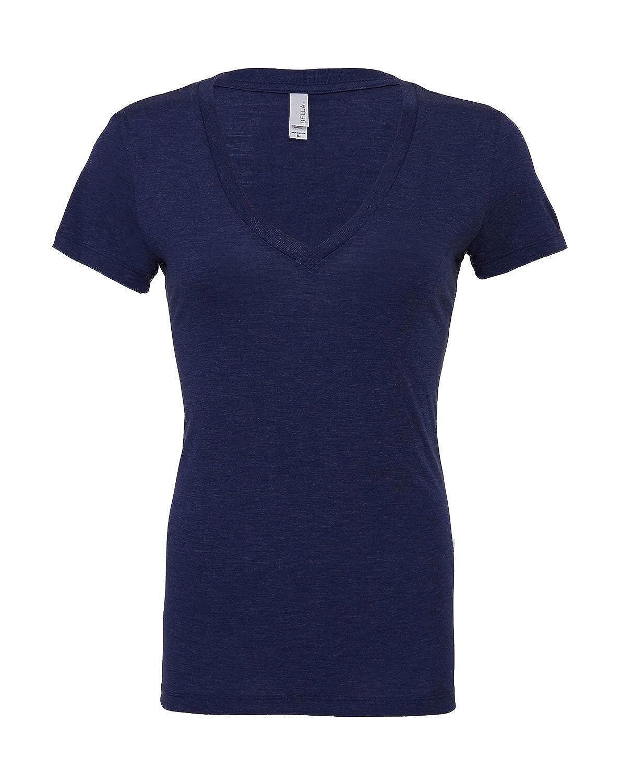 be2d35081bf70 Bella Canvas - T-Shirt Manches Courtes Femme col V Profond  Amazon.fr  Vêtements  et accessoires