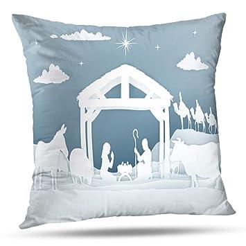Amazon.com: LILALO Fundas de Almohada, Navidad Natividad ...