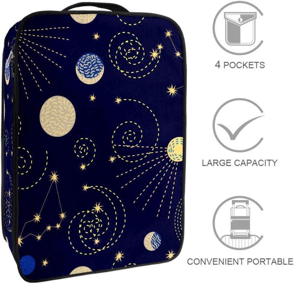 TIZORAX Zodiac SkyTravel - Bolsa de almacenamiento para zapatos, multifuncional, portátil