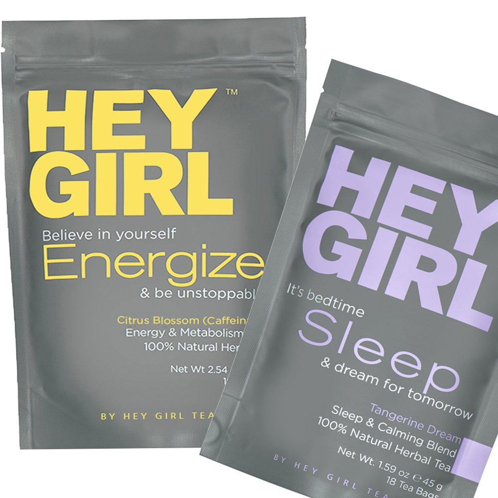Refreshed and Focus Herbal Tea Bundle | Natural Sleep Aid + Metabolism Booster Teas | Relax at Bedtime and Feel Energized During The Day