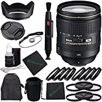 Nikon AF-S NIKKOR 24-120mm f/4G ED VR Lens + 77mm 3 Piece Filter Set (UV, CPL, FL) + 77mm +1 +2 +4 +10 Close-Up Macro Filter Set with Pouch + Lens Cap Keeper + Lens Hood + Lens Cleaning Pen Bundle