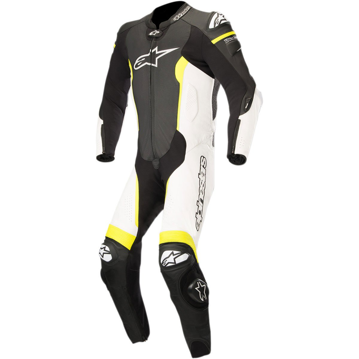 Alpinestars Missile Men's 1-Piece Street Race Suits - Black/White/Yellow / 54
