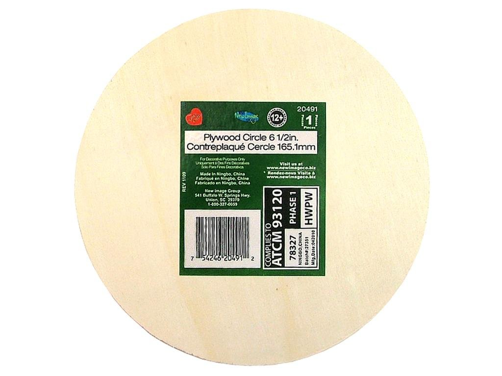 Lara's Plywood Circle 6 1/2 in. 12 pc. CECOMINOD054207